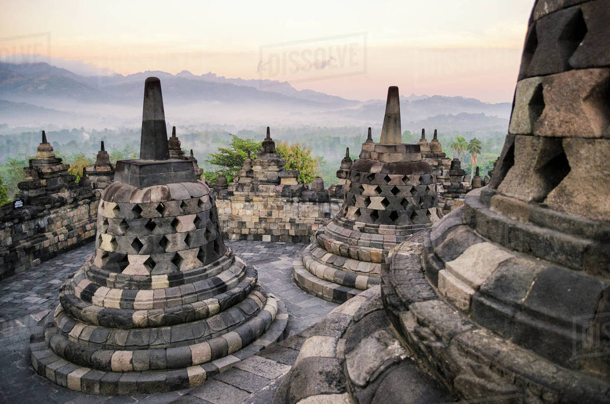 borobudur temple a 9th century buddhist temple with terraces and