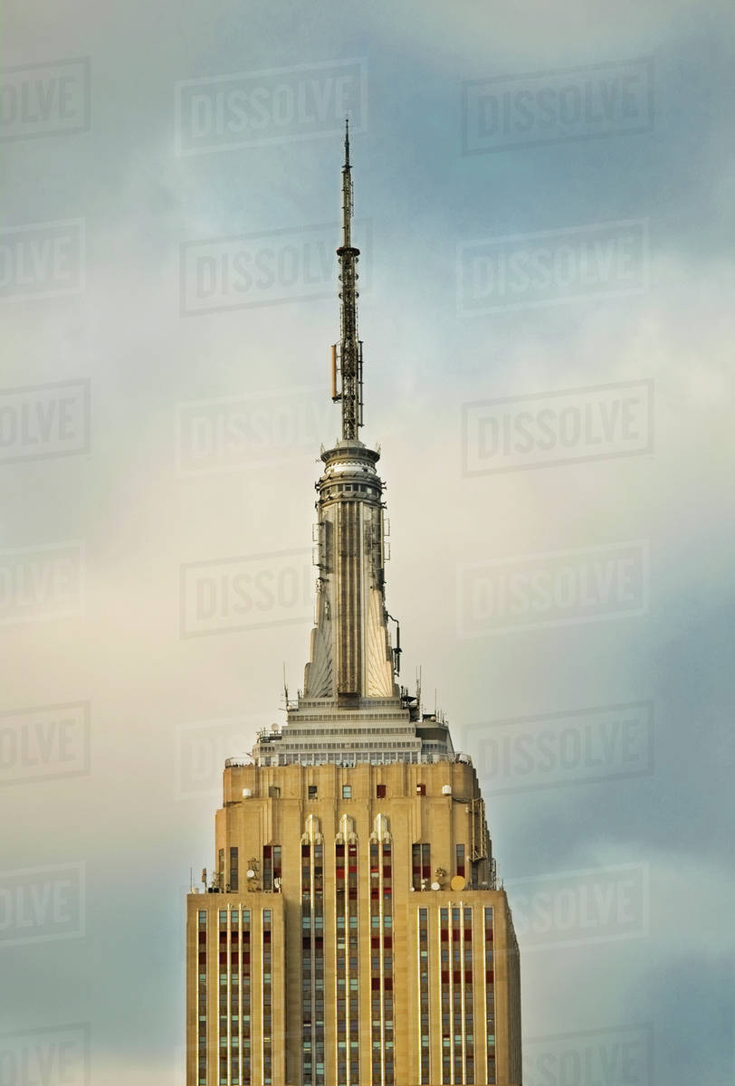 usa new york city empire state building stock photo dissolve