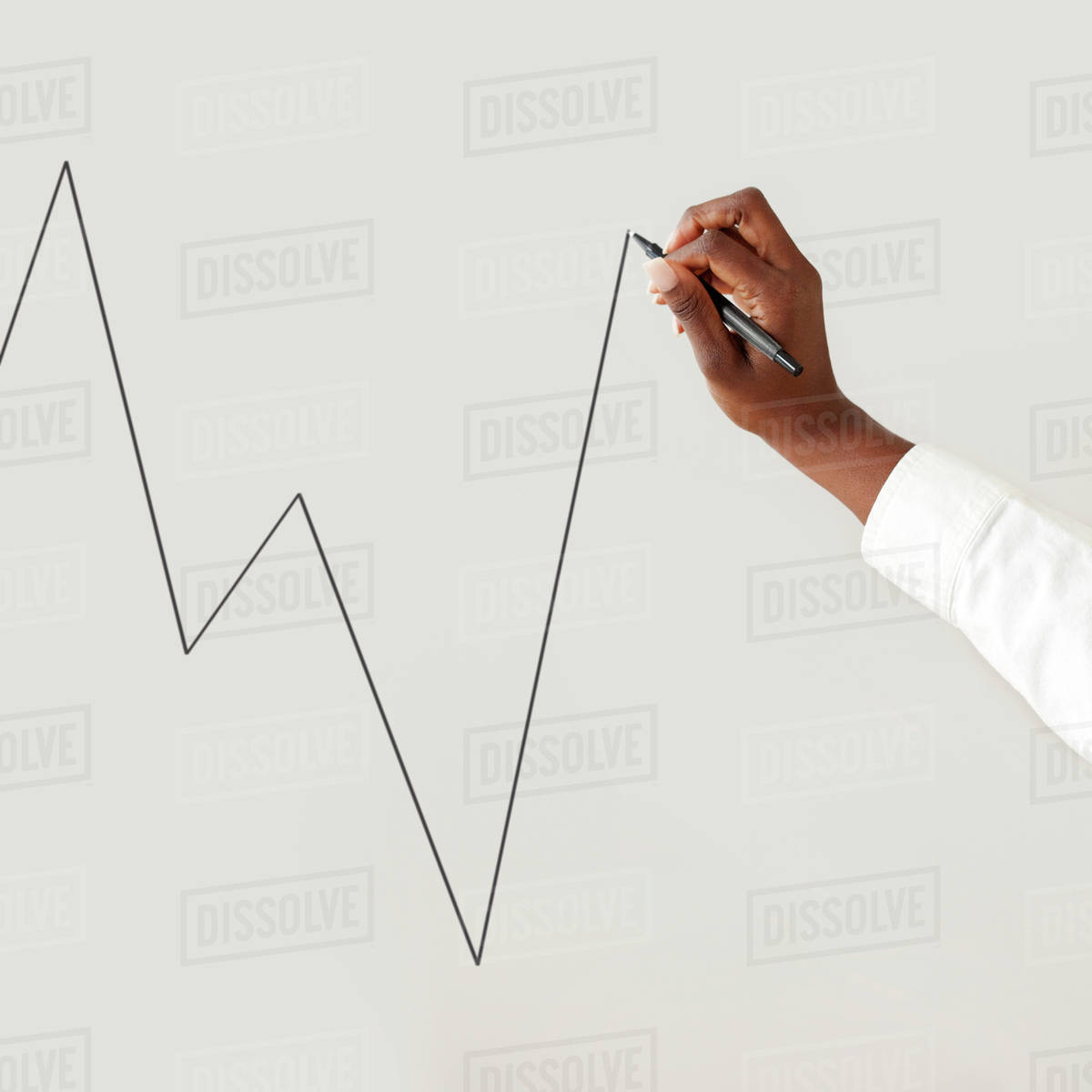 close up of woman s hand drawing chart stock photo dissolve