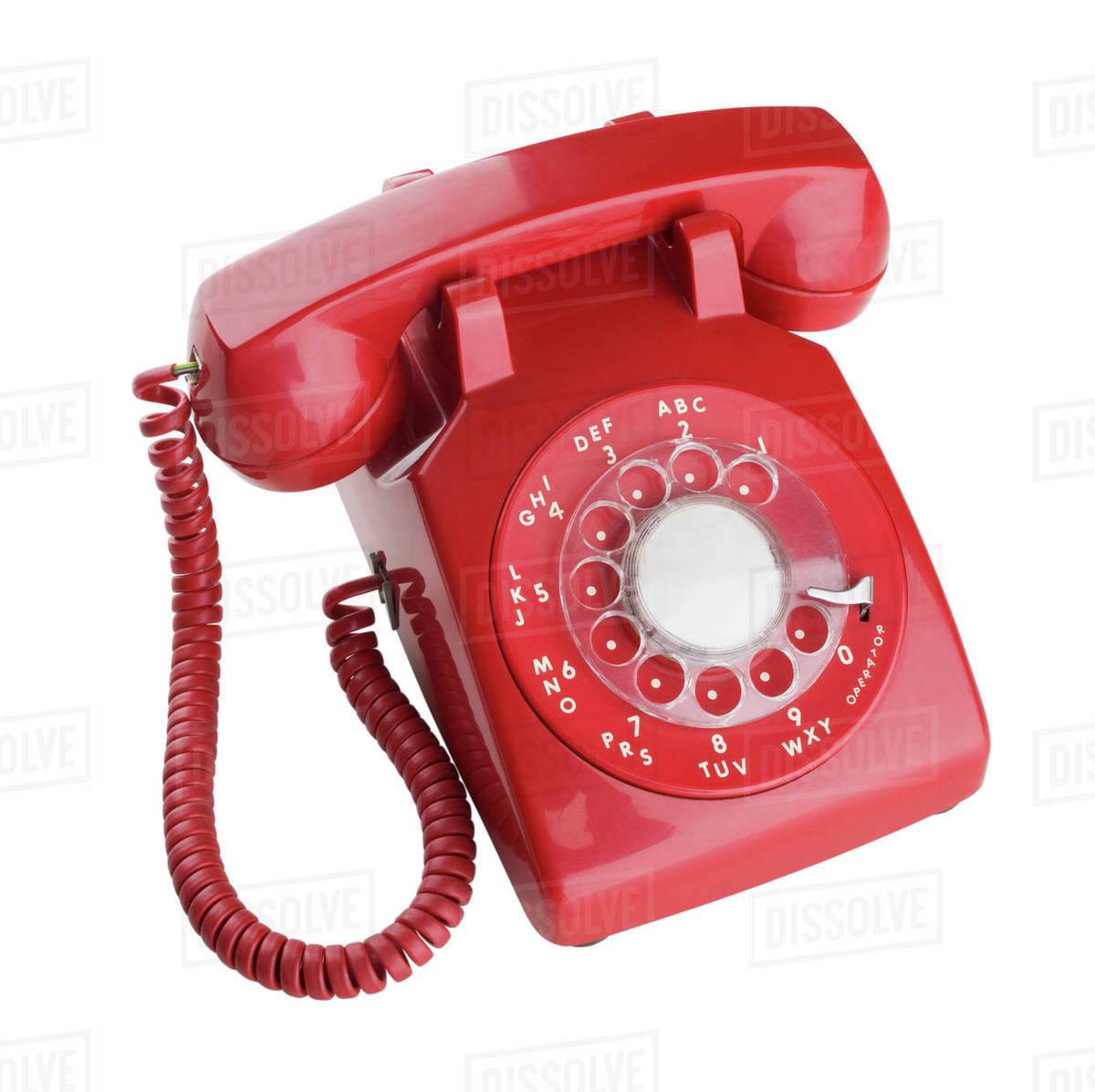 Close up of rotary telephone stock photo