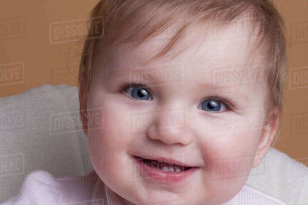 Portrait of smiling baby girl Royalty-free stock photo