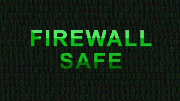 CGI firewall safe Royalty-free stock video