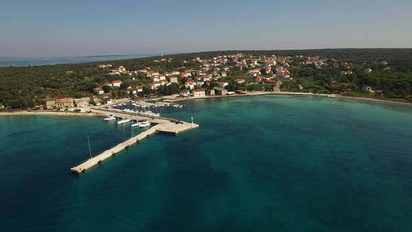 Aerial - Croatian island, Olib Royalty-free stock video