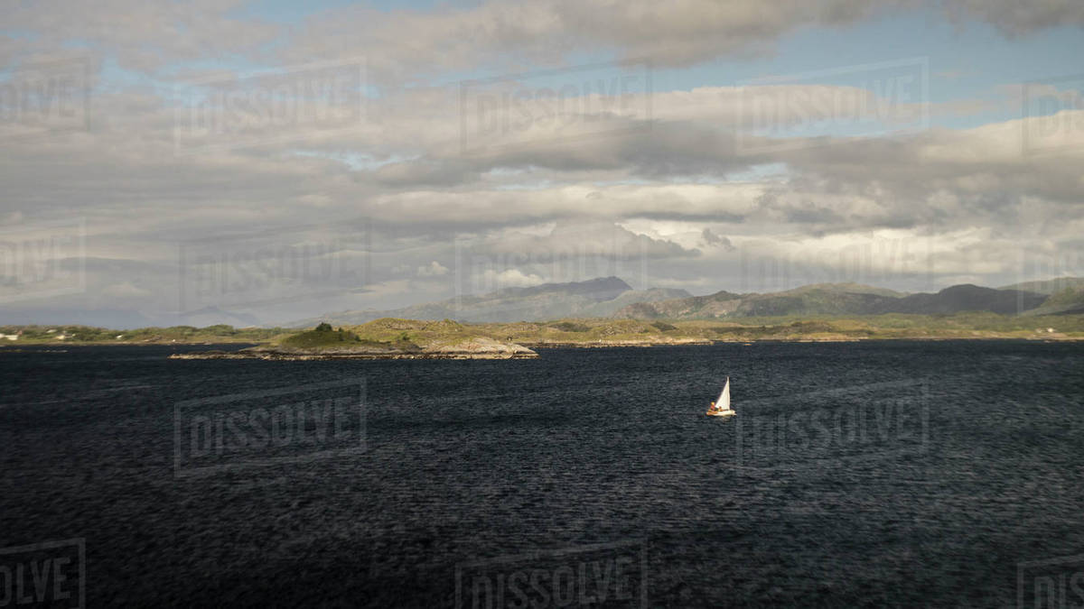 A small  boat on the sea in Norway Royalty-free stock photo