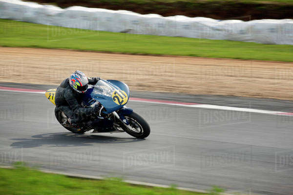 Motorcycle Racing on Track Royalty-free stock photo