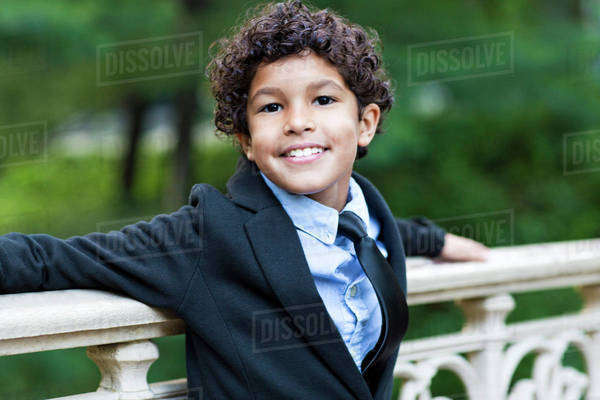Portrait of smiling boy (6-7) Royalty-free stock photo