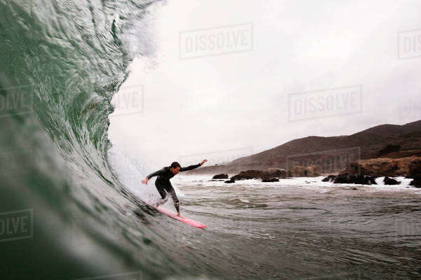 Man surfing in Los Angeles Royalty-free stock photo