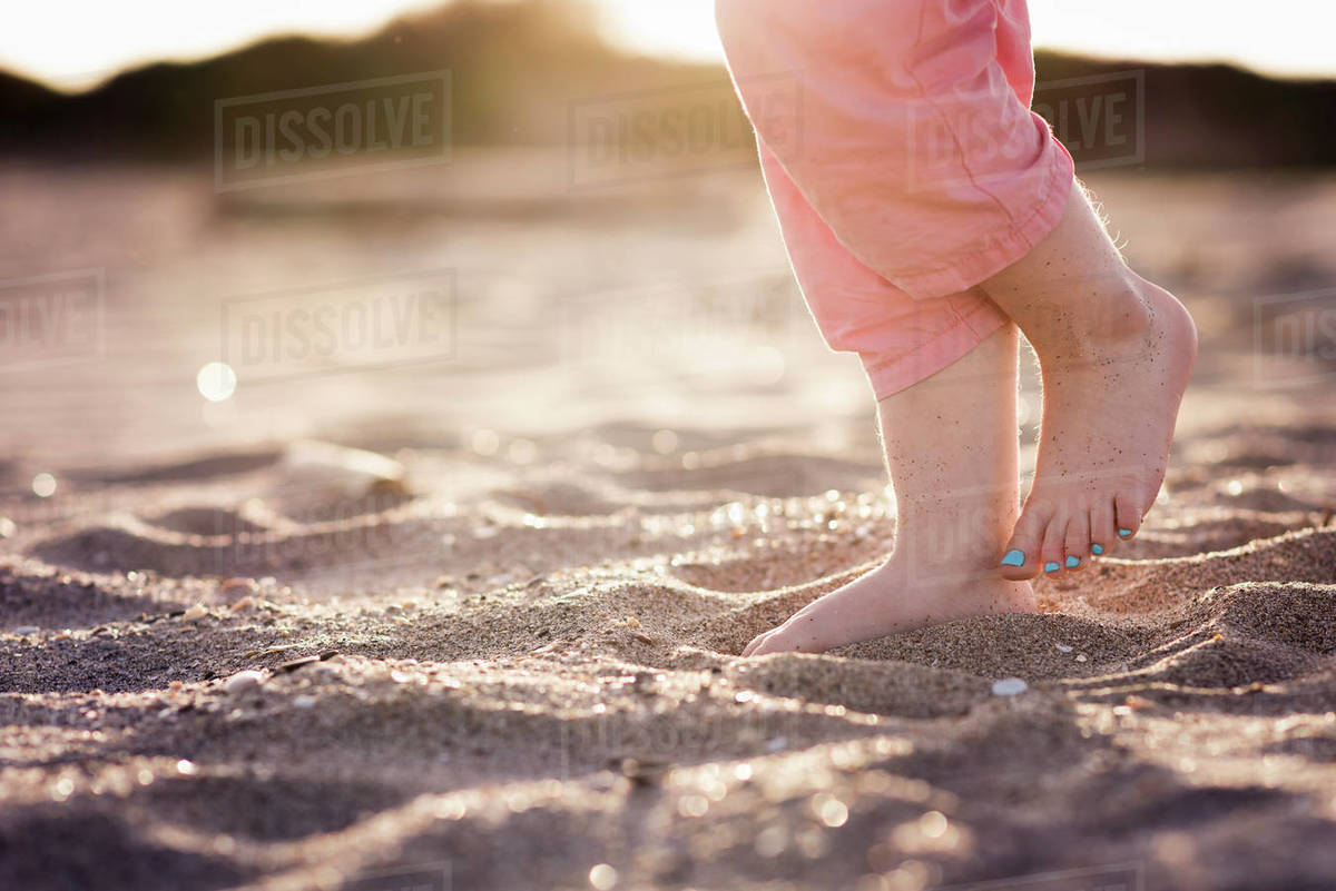 Feet Of A Sleeping Toddler Stock Photo   Getty Images