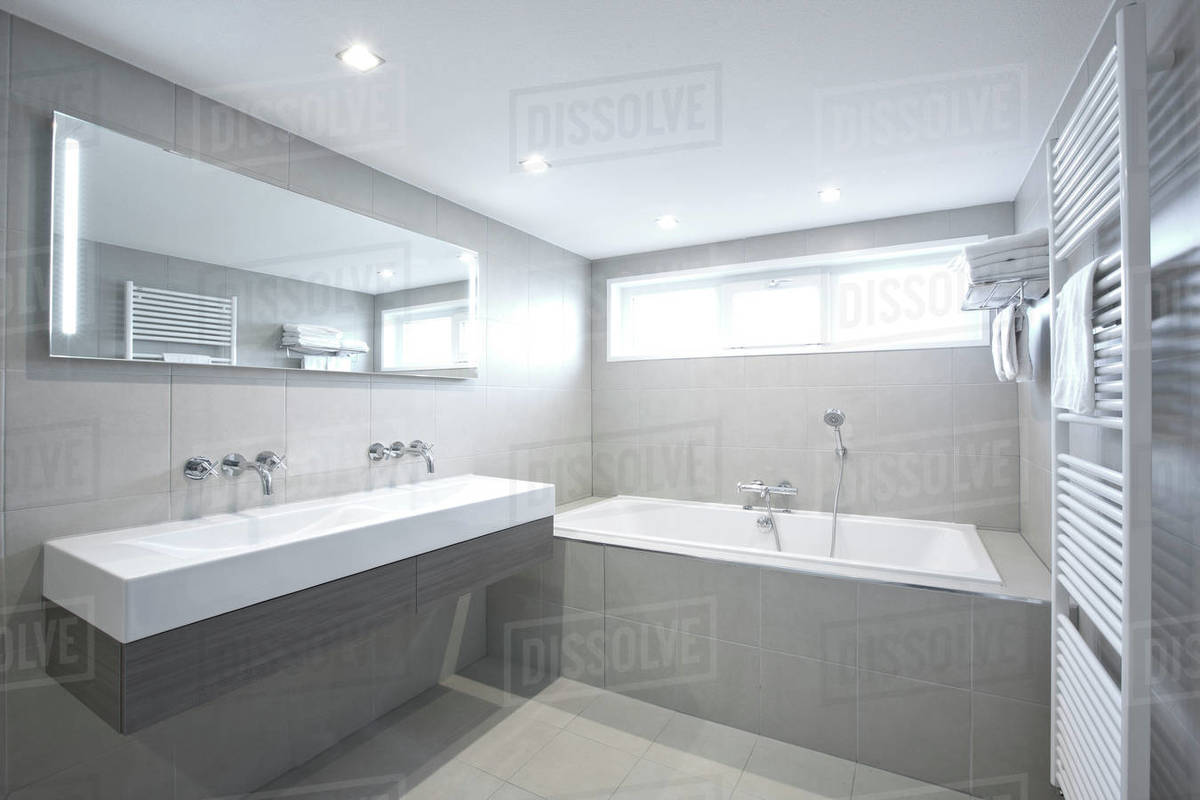 Modern bathroom at luxury hotel in the Netherlands Royalty-free stock photo