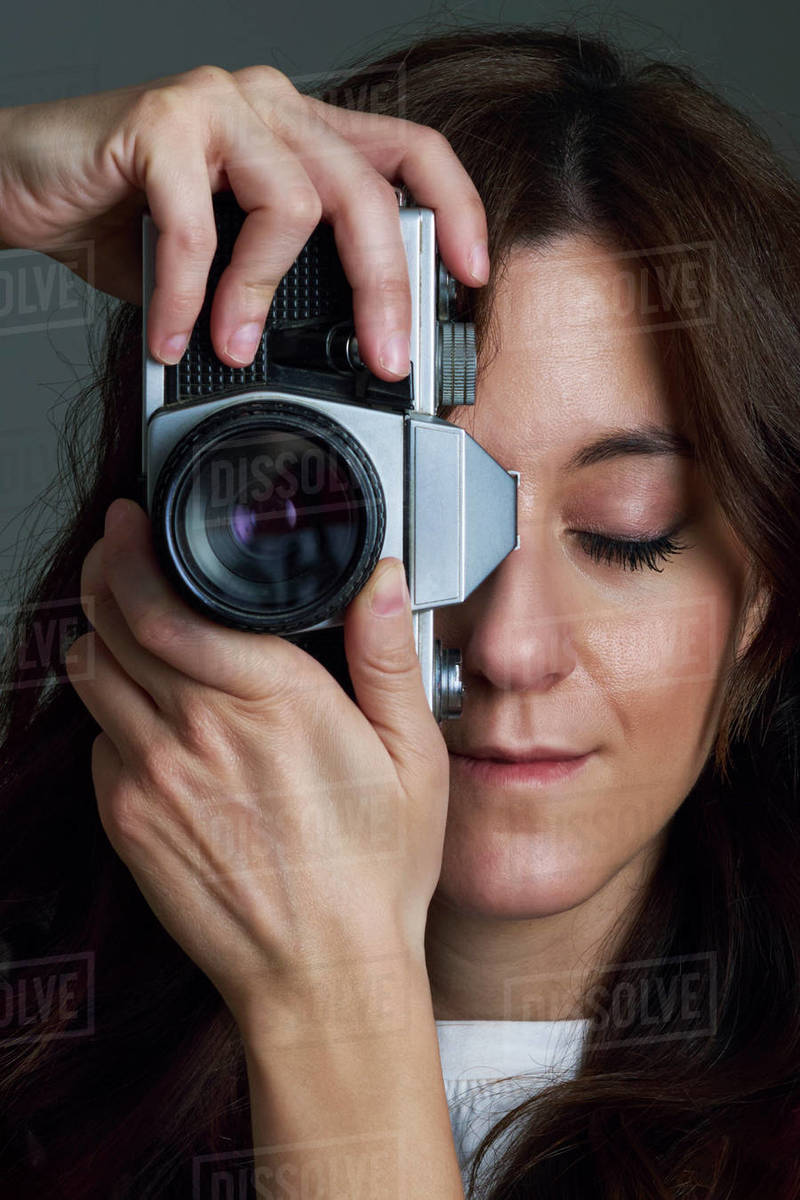 Person taking a photo in the studio Royalty-free stock photo