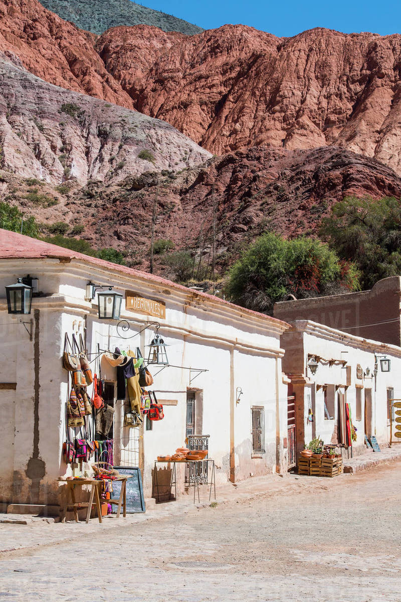 Small street in the village of Purmamarca in Argentina Royalty-free stock photo