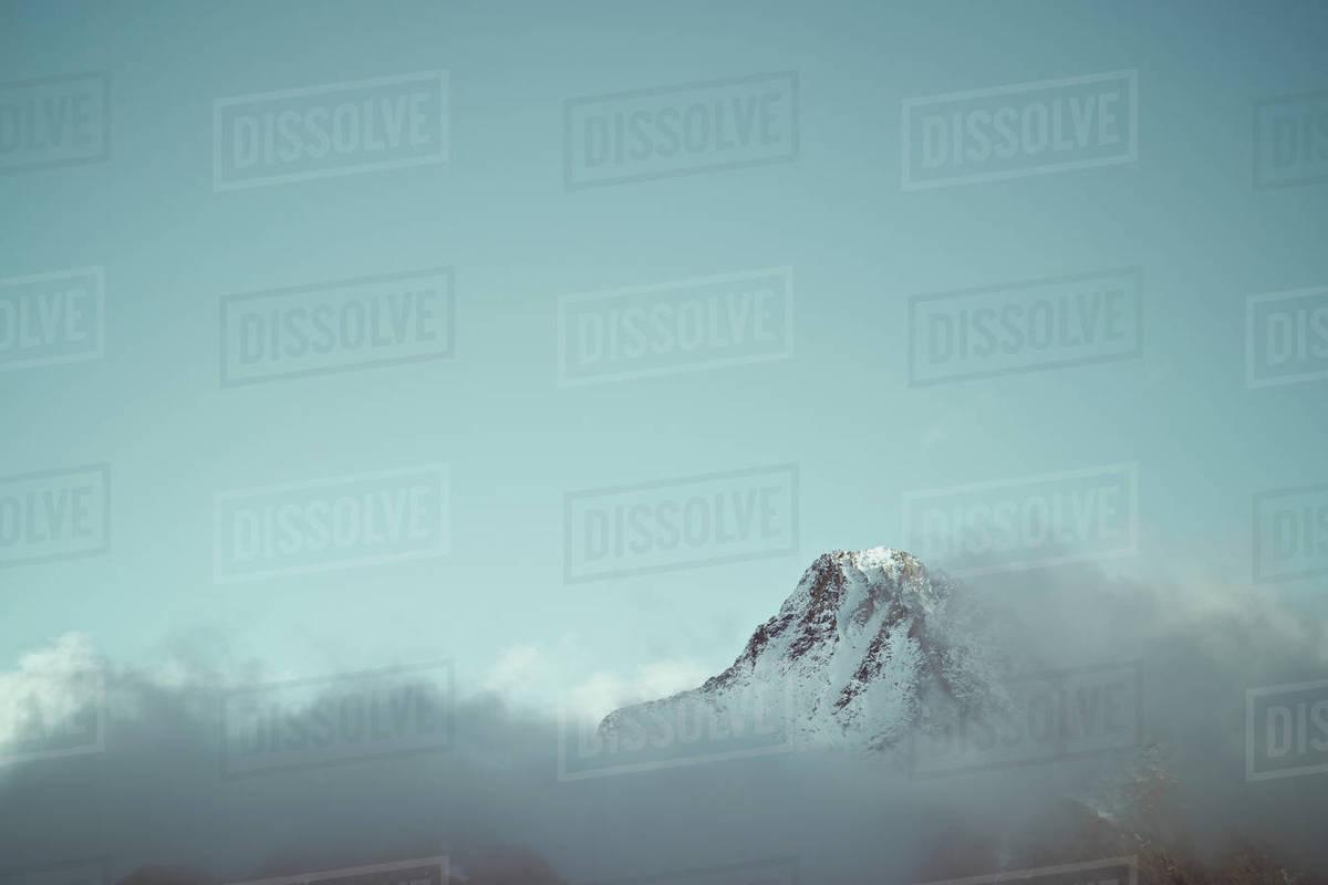 Serrato Peak in Tena Valley, Panticosa Area, Pyrenees, Huesca Province, Aragon in Spain. Royalty-free stock photo
