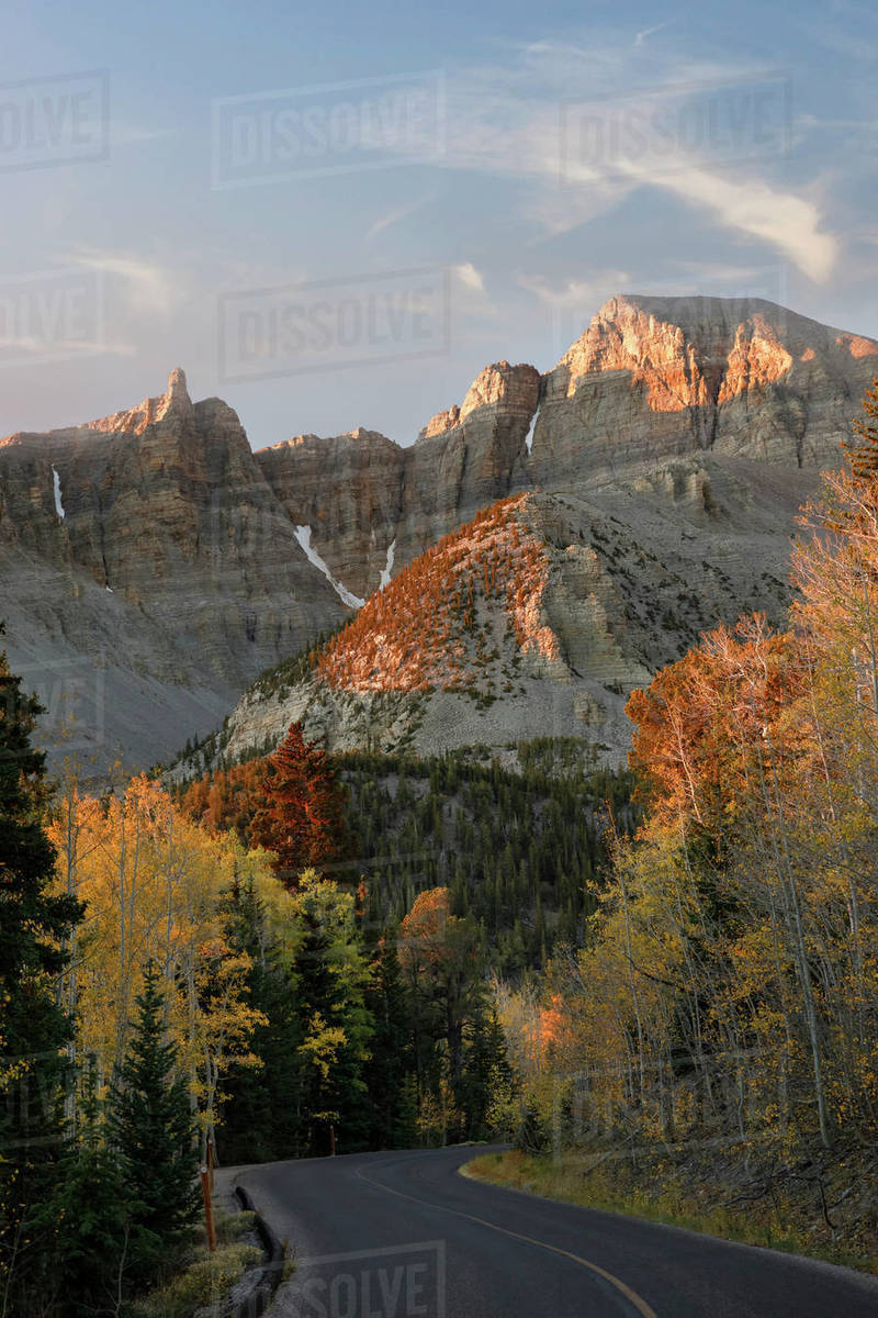 Road leading up to Wheeler Point in Great Basin National Park Royalty-free stock photo