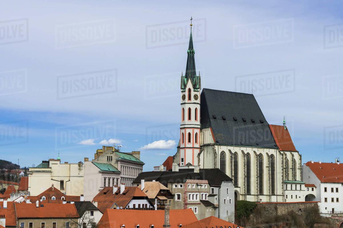 St. Vitus Church, Cesky Krumlov, South Bohemian Region, Czech Republic Royalty-free stock photo