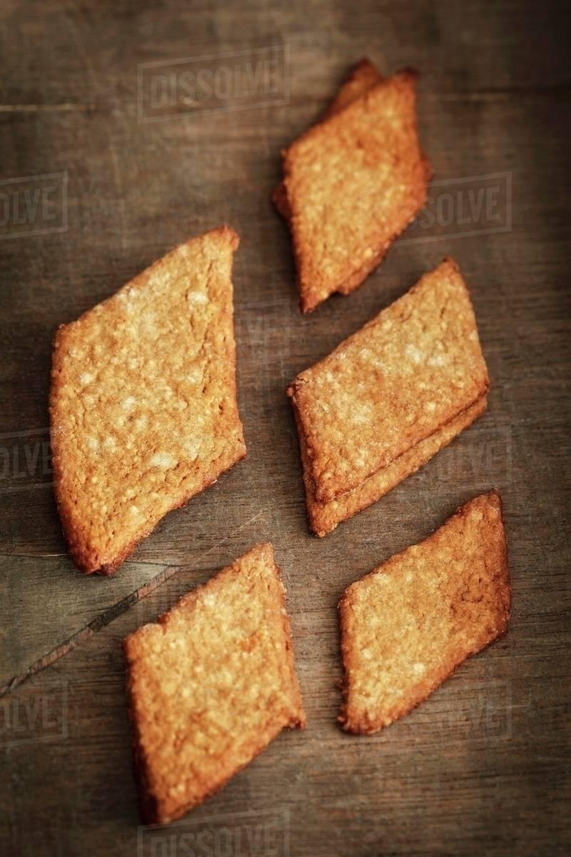 Home Made Braunkuchen Spiced German Biscuits Stock Photo