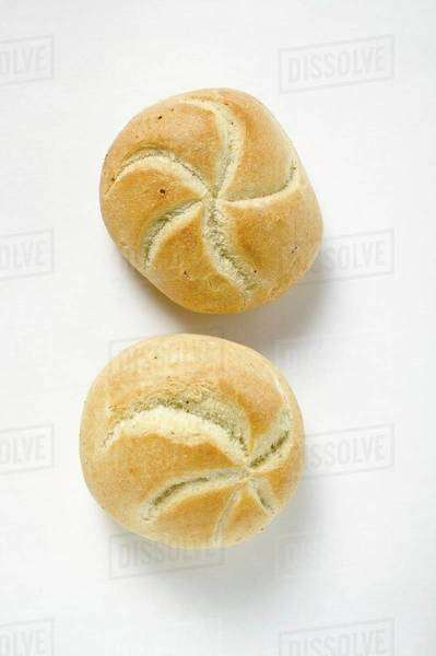 Two bread rolls Royalty-free stock photo