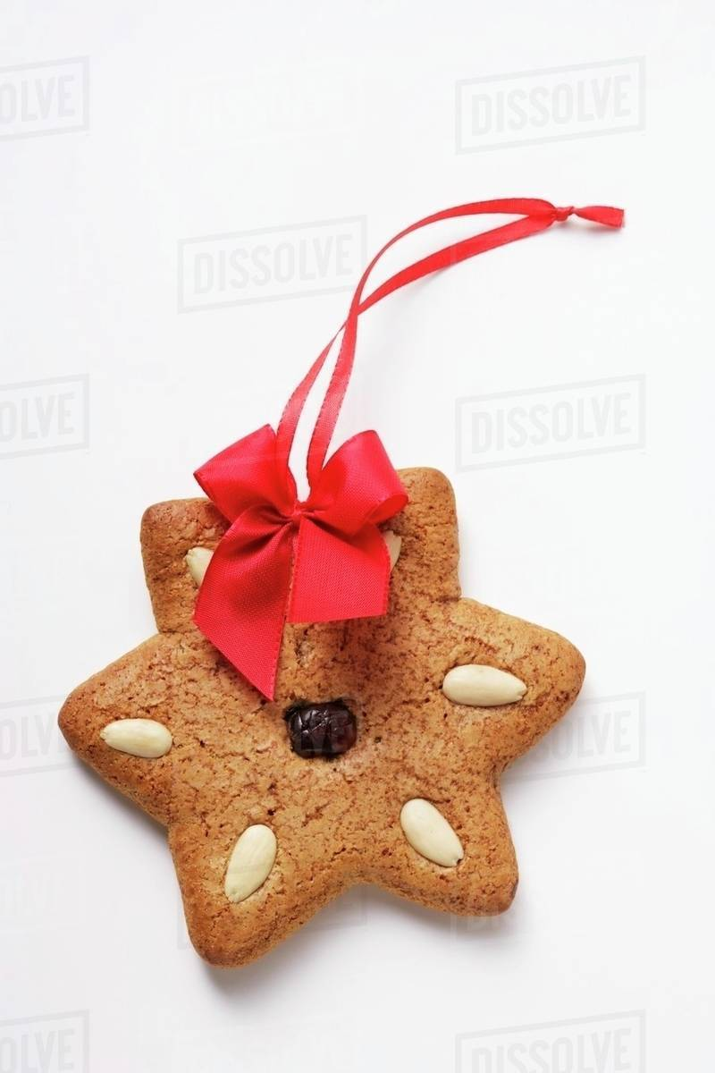 Gingerbread Star To Hang On The Tree Stock Photo