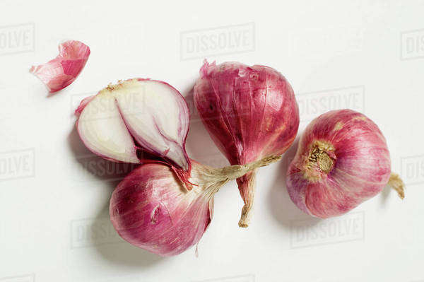 Red onions, one halved Royalty-free stock photo