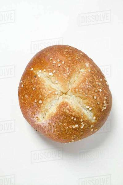 Salted pretzel roll Royalty-free stock photo