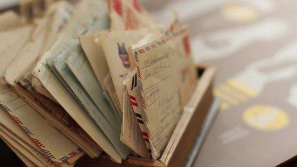 Close-up shot of handwritten letters Royalty-free stock video