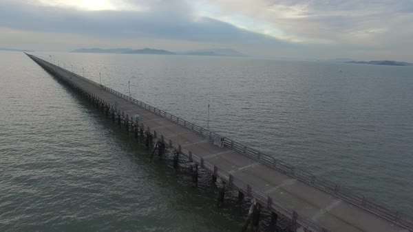 Wide shot of Berkeley Pier in Berkeley CA, USA Royalty-free stock video