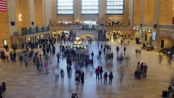 Timelapse of Grand Central Terminal in New York Royalty-free stock video