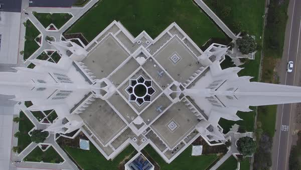 Top view shot of San Diego California Temple Royalty-free stock video