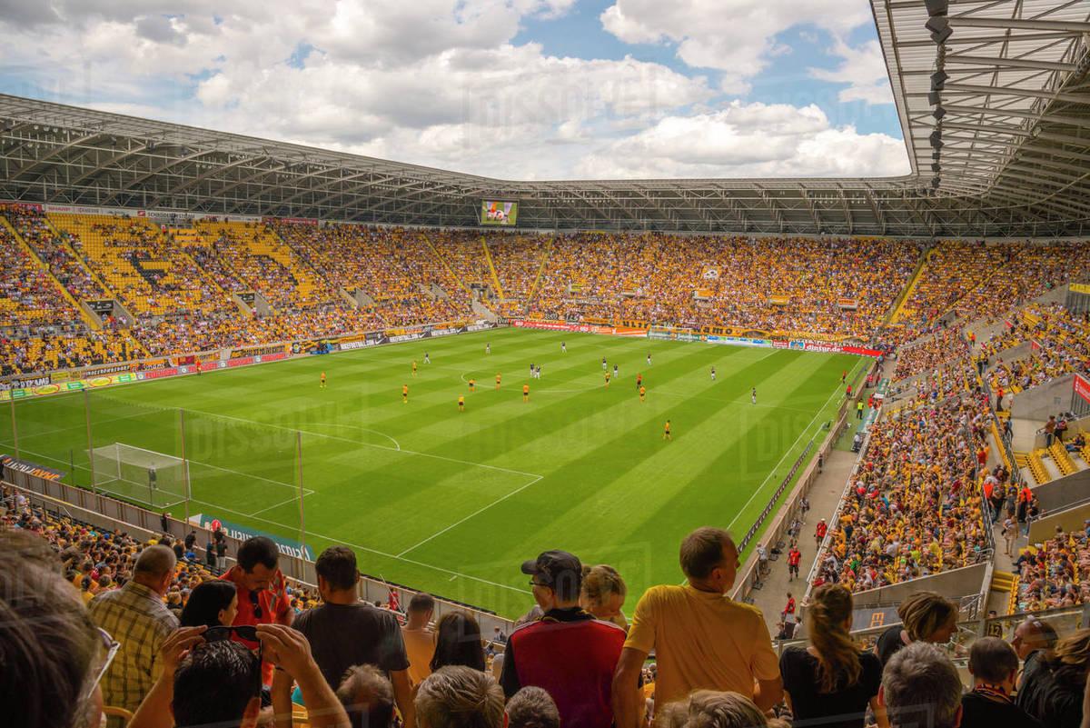 Germany Dresden Dynamo Dresden Playing At Gluecksgas Stadium