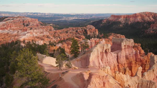 Panning view of the Bryce Canyon landscape in Utah. Royalty-free stock video