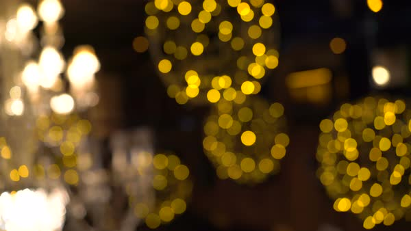 Golden lights flickering in the background defocused Royalty-free stock video