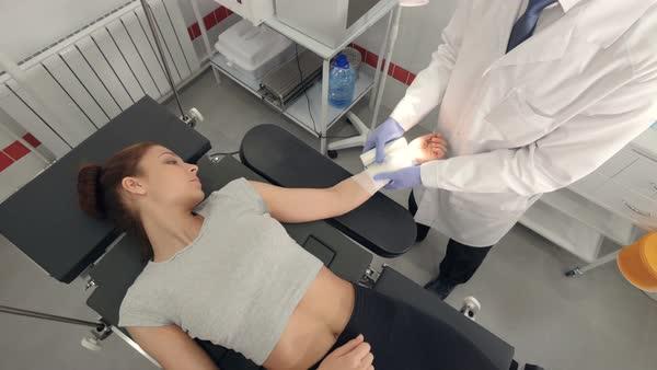 Medical vaginal exam video