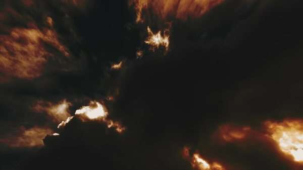 Dark hellish nightmare clouds background Royalty-free stock video