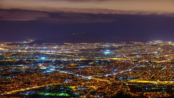 Athens from above,establishing shot,night timelapse Royalty-free stock video