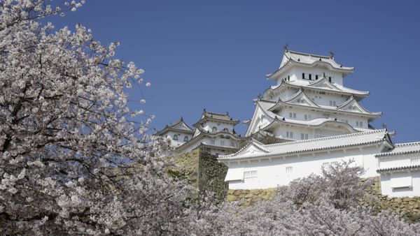 Himeji Castle, Hyogo Prefecture, Japan Royalty-free stock video