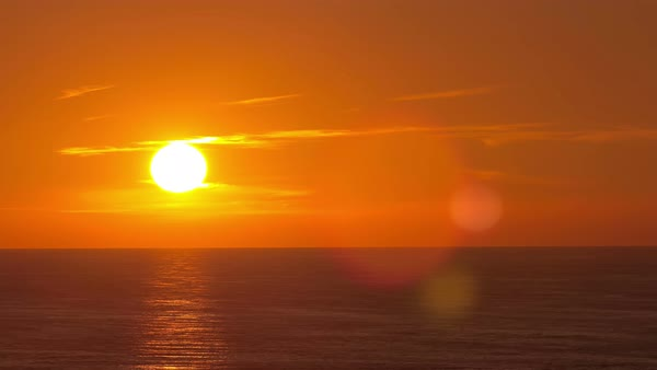 Beautiful sunset above the Black sea at Sochi timelapse Royalty-free stock video