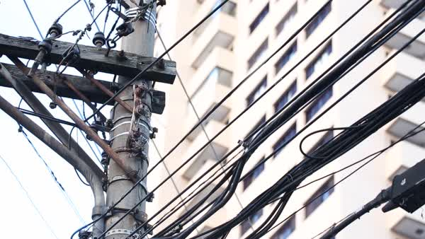 Third world country electrical wires. Disorganized electrical wiring ...