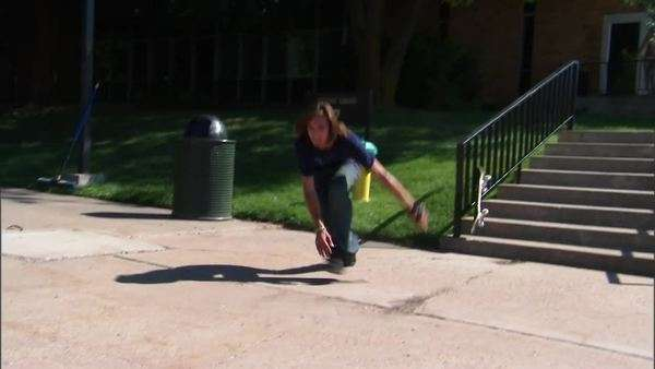 Montage of a teenage skateboarder falling on stairs Rights-managed stock video