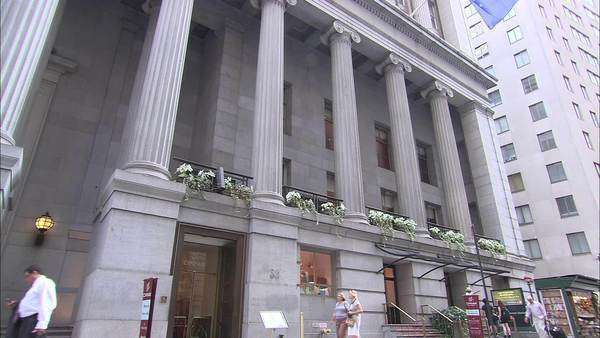 Low angle shot of a Federal style building Rights-managed stock video