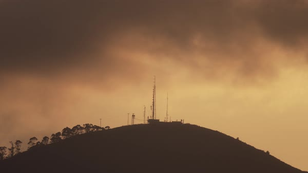 Static shot of an antenna tower on a hill in San Francisco Royalty-free stock video
