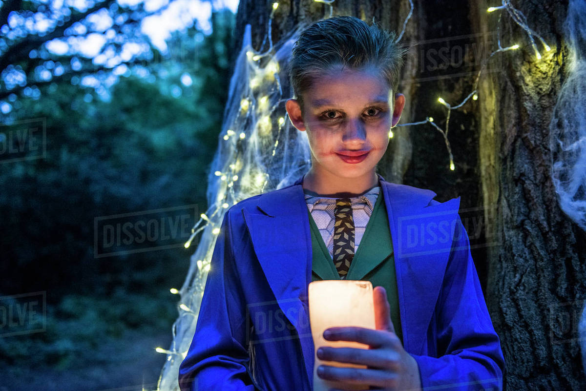 A boy dressed in costume for Halloween Night Royalty-free stock photo