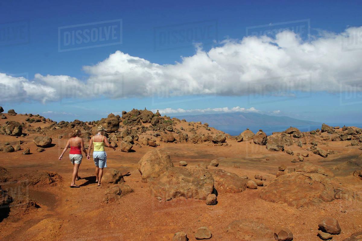 Hawaii, Lanai, Garden Of The Gods - Stock Photo - Dissolve