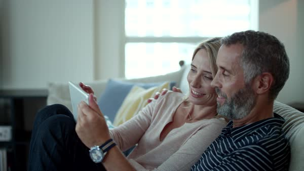 Couple using digital tablet. Royalty-free stock video