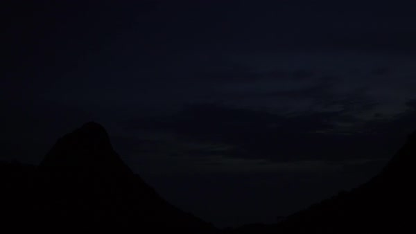 Twilight turns to night over Cerros de Mavecure, Colombia Royalty-free stock video