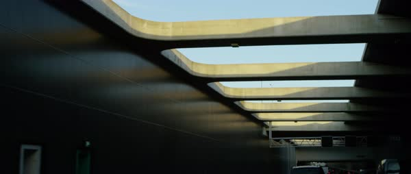 Low-angle shot of skylights of an underpass Royalty-free stock video