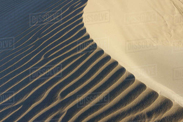 Ripples in Sand Dunes at Beach near Cadiz, Costa De La Luz, Cadiz Province, Andalusia, Spain Royalty-free stock photo