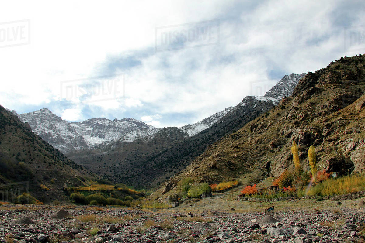 Scenic view of Toubkal National Park in Morocco Royalty-free stock photo