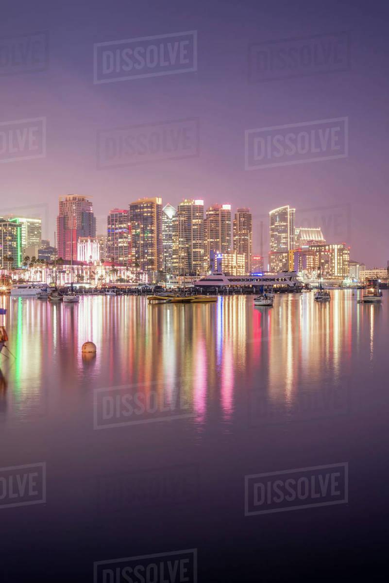 San Diego Harbor & San Diego Skyline Royalty-free stock photo