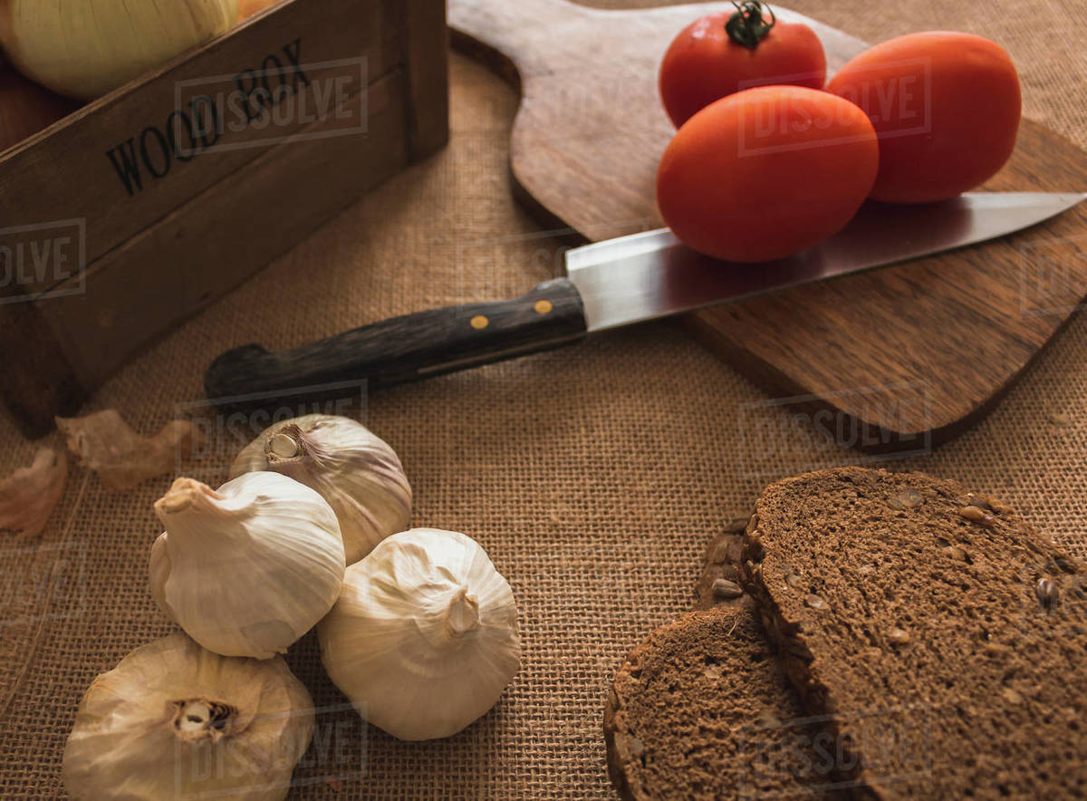 Natural ingredients prepared for artisanal cooking Royalty-free stock photo