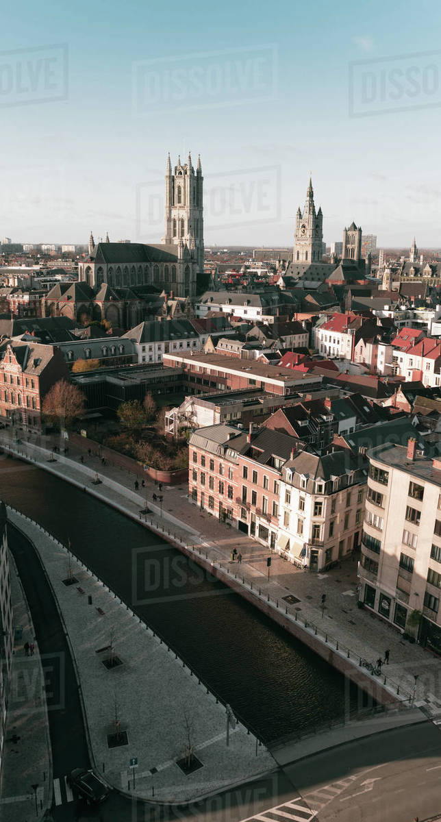 City view of Ghent Royalty-free stock photo