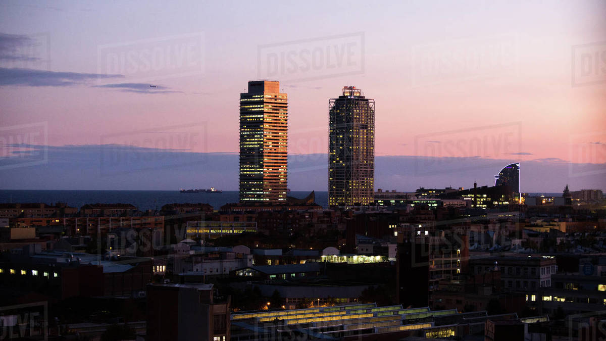 Mapfre Towers in Barcelona Royalty-free stock photo